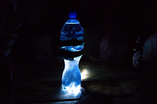 Licht mit Hilfe einer Petflasche