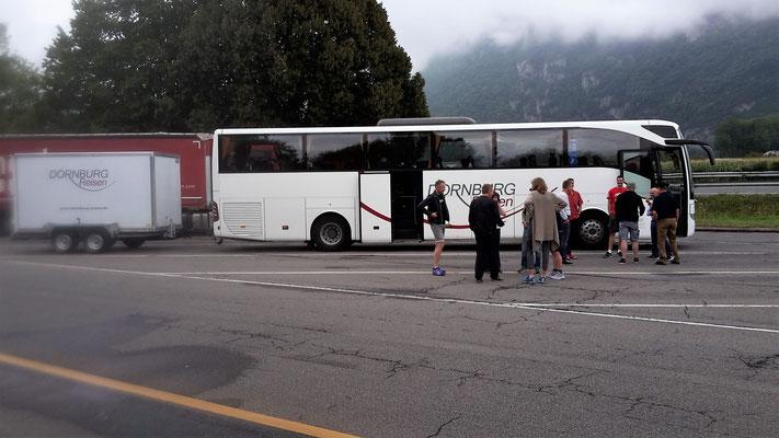 1. Tag Anfahrt aus dem Huinsrück an den Genfer See
