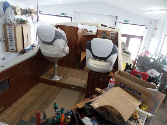 Bootsbau Sager Ratzeburg Motorboot Refit Innenausbau Cockpit Cockpitausbau
