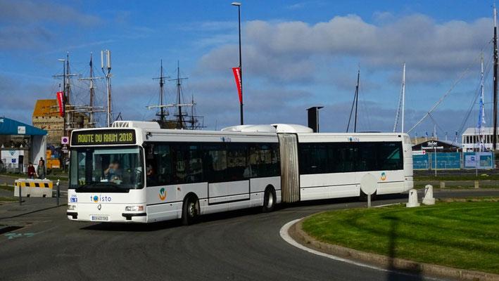 Renault Agora L du réseau Twisto lors du dispositif Route du Rhum du réseau MAT. Photo Antoine H.