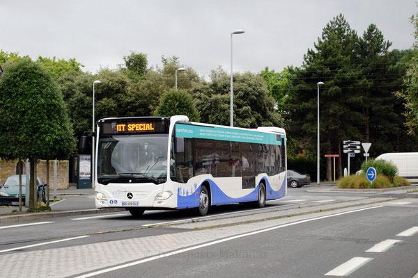 Mercedes Citaro C2 n°87, service spécial de transport d'élus, Gares
