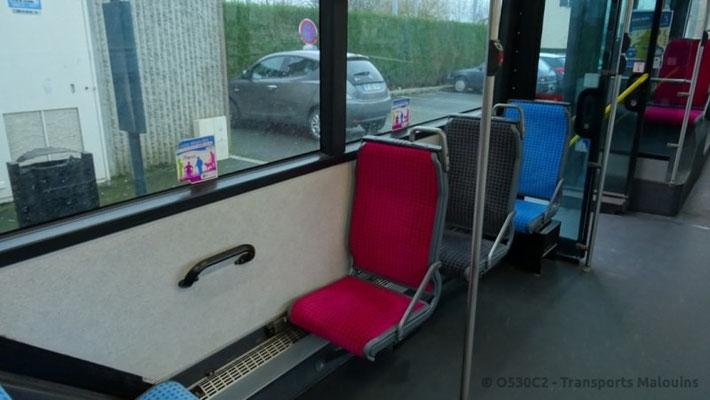 Vue des trois coloris de sièges.