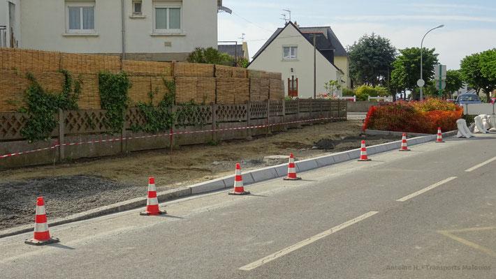 L'enclave de l'arrêt de Fontenelles n'a pas survécu à sa rénovation. Photo Antoine H.