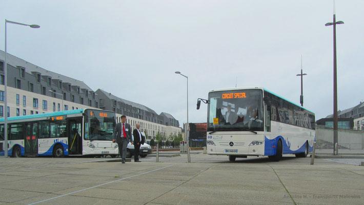 Mercedes Intouro du réseau MAT lors de l'inauguration du réseau le 05/07/14, Gares.