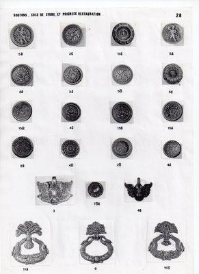 Boutons,cols de cygnes, poignées restauration