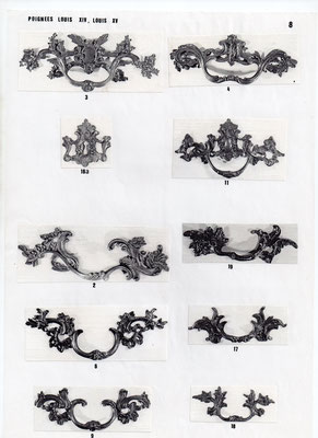 Poignées applique louis XIV, louis XV