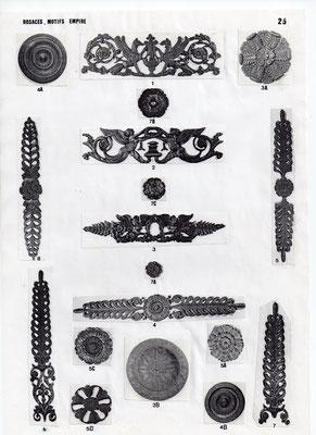 Rosaces, motifs empire
