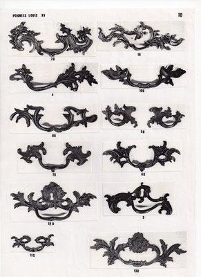 Poignées louis XV