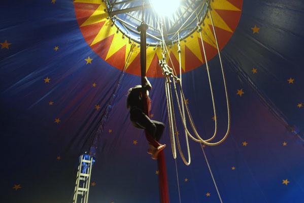 Akrobatik Vertikalseil