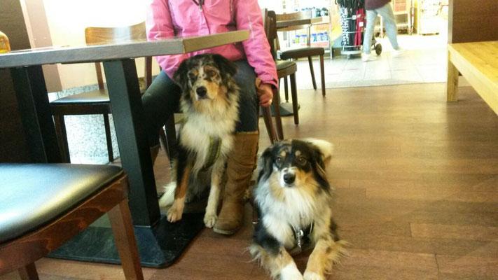 Mit Schwester Triss im Café