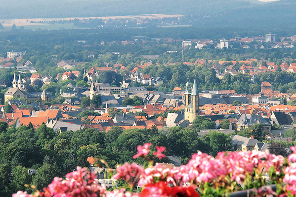 Blick vom Maltermeisterturm auf Goslar - Foto: Regine Schadach