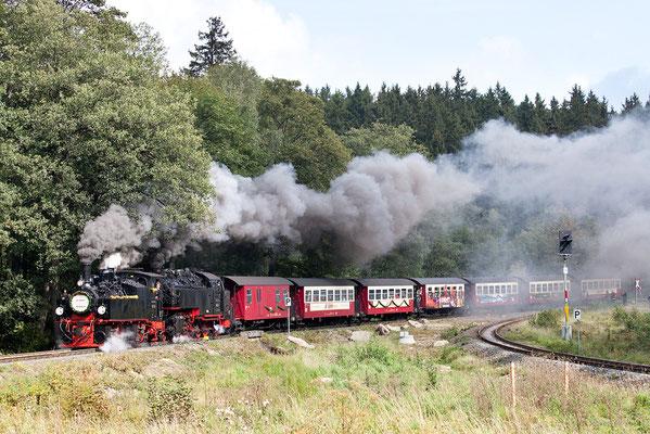 Zweiter Sonderzug: 20 Jahre Wiedereröffnung des Zugverkehrs zum Brocken 2011 Drei Annen Hohne Bild 033 Foto: Regine Schadach