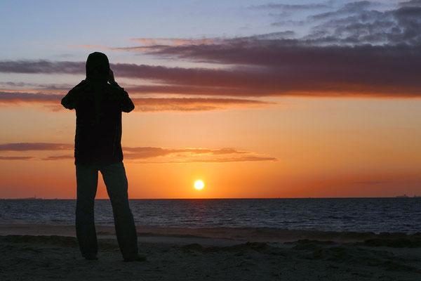 Sonnenuntergang bei Cuxhaven-Duhnen - Bild 001 Foto: Regine Schadach