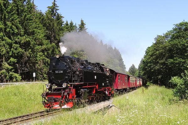 Harzer Schmalspurbahnen - der Brockenzug am 1. Juli 2015 vor Drei Annen Hohne Bild 026 Foto: Christian Braun