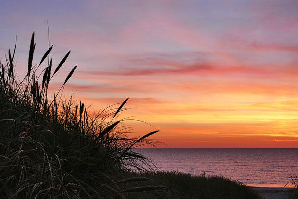 Sonnenuntergang an der Westjütlandküste bei Vrist - Dänemark - Bild 012 Foto: Regine Schadach
