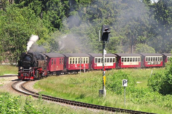 Durch den Nationalpark Harz mit der Harzquerbahn nach Nordhausen - am 1. Juli 2015 nach Drei Annen Hohne Foto: Christian Schulz