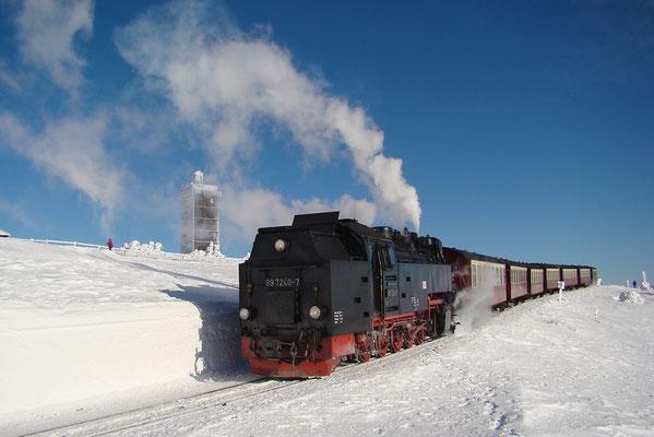 Harzer Schmalspurbahnen - Brockenzug auf dem Brocken - Bild 019 - Foto: Christian Braun