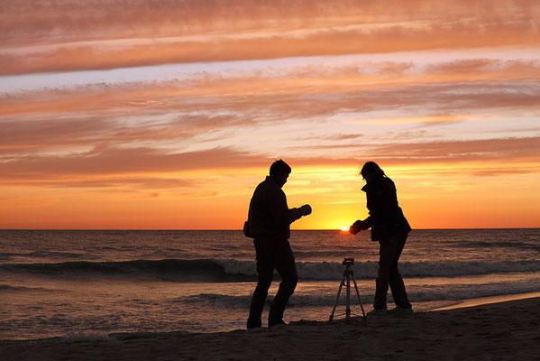 Naturfotografen an der Westjütlandküste bei Vrist - Bild 003 - Foto: Regine Schadach