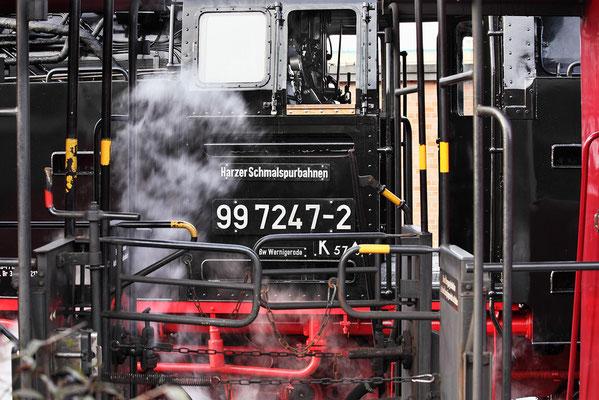 Harzer Schmalspurbahnen - im Bahnhof Wernigerode - Bild 008 - Foto: Regine Schadach