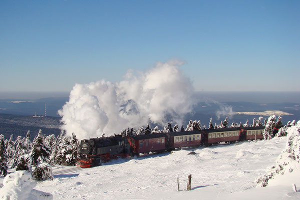 Harzer Schmalspurbahnen - Brockenzug auf dem Brocken - Bild 018 - Foto: Christian Braun