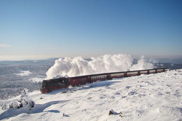 Harzer Schmalspurbahnen - Brockenzug auf dem Brocken - Bild 017 - Foto: Christian Braun
