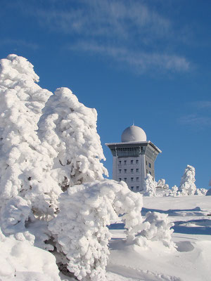 Auf dem Brocken - Blick zum Brockenhotel - Foto: Christian Braun