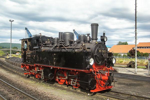 Harzer Schmalspurbahnen - im Bahnhof Wernigerode - Malletlokomotive - Bild 014 - Foto: Christian Braun