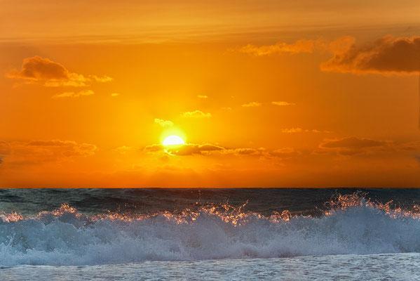 Sonnenuntergang an der Westjütlandküste bei Vrist - Bild 004 - Foto: Regine Schadach