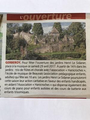 Avril 2017 - journée d'ouverture des Jardins Henri Le Sidaner