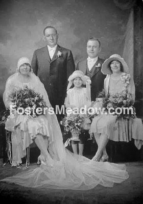 Kiesel, Anthony & Nenninger, Justine Angela  - Oct 25, 1929 - St. Ignatius R.C. Church, Hicksville -Maid of honor M. Finn,  Best Man- Joseph Metz, (cousin of the bride) Flower Girl- Margaret Nenninger