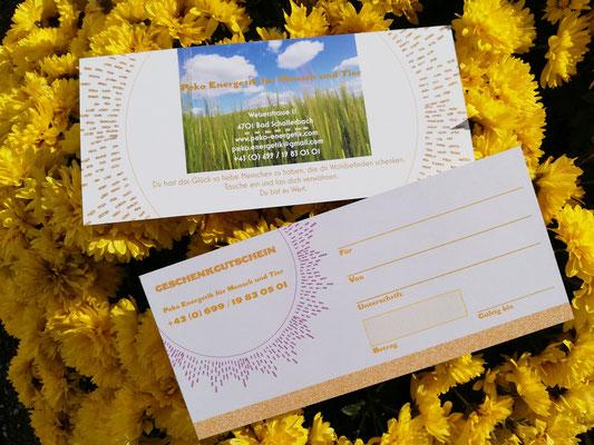 Wähle du einen Betrag, den du gerne für deine Liebsten als Gutschein schenken möchtest!