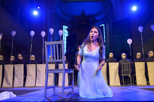 Giulietta <I Capuleti e i Montecchi> (Theater Freiberg, 2016/17) Foto: Jörg Metzner