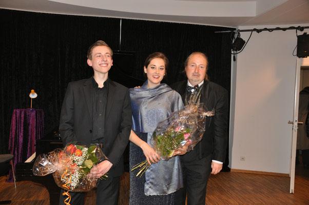 """KuBe Konzert """"Ich atmet' einen linden Duft"""" am 22. April 2016 im Leidinger Saarbrücken mit Alexander Baier, Lisa Ströckens, Michael Britz"""