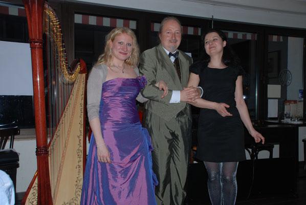 KuBe Konzert Engelsmelodien, Victoria Kunze, Michael Britz und Natalia Malkova. Cafe de Paris, 10. Mai 2014