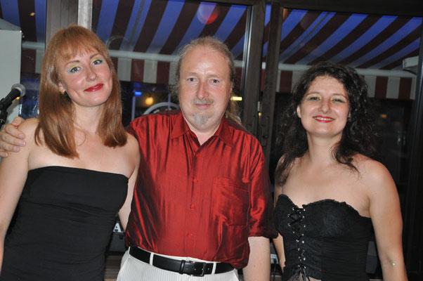 """KuBe Konzert """"Femmes Natales"""" mit Natasha Bagrova, Michael Britz und Natalia Malkova, 26. August 2016 im Cafe Paris, Saarbrücken."""