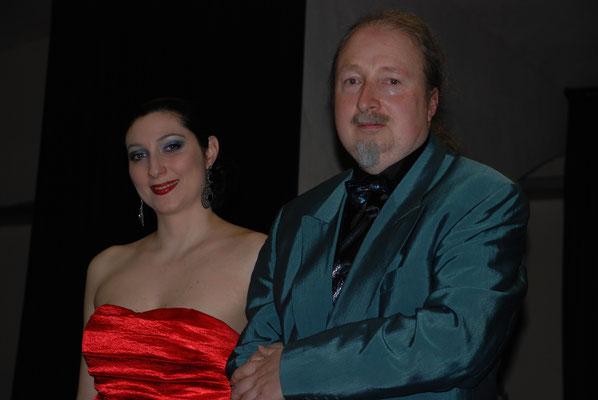 "KuBe Konzert ""Auf den Flügeln des Gesangs"" mit Ljiljana Winkler (Sopran), Schlosskeller am 20. April 2013. Ljiljana Winkler mit Michael Britz"