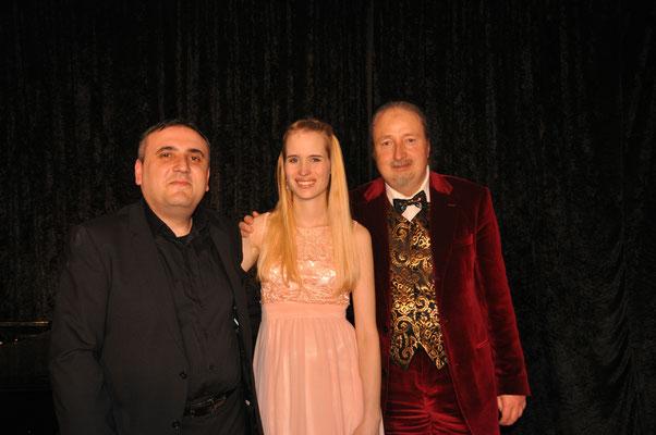 """KuBe Konzert """"Lieder einer Braut"""", 13. Februar 2016 im Leidinger, Saarbrücken. Grigor Asmaryan, Laura Demjan und Michael Britz"""