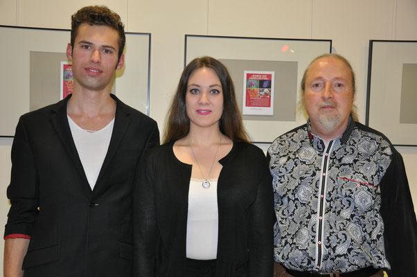 """KuBe Konzert, """"Räume der Freiheit"""",  Rick-Henry Ginkel, Elisa Wehrle, Michael Britz,  Breite 63, Saarbrücken."""