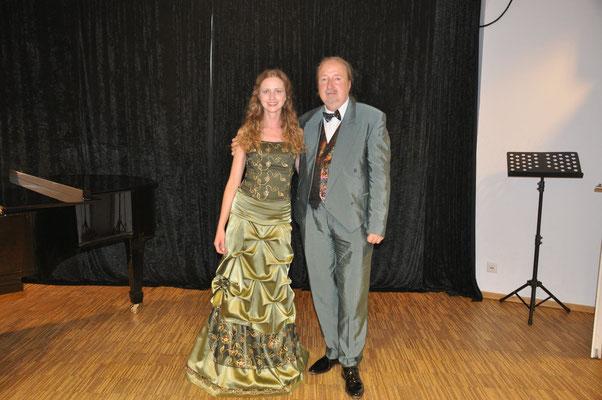 "KuBe Konzert ""Verliebt, Verrückt, Verzweifelt"", Franziska Wetzler mit Michael Britz am 13. Mai 2017 im Leidinger."