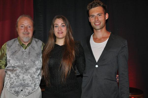 """KuBe Konzert """"Elisa&Rick"""", Cafe Paris, Saarbrücken,  Michael Britz mit Elisa Wehrle und Rick-Henry Ginkel"""