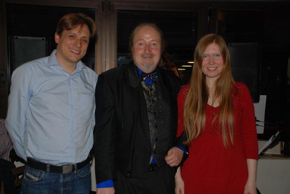 Kube Jazz Konzert mit dem Duo Basspartwo: Norbert Schirmer, Michael Britz und Annika Jonsson. Cafe de Paris, 26. April 2014
