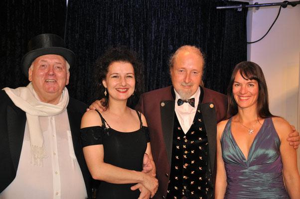 "Kube Konzert ""Music for a While"", Charles Robin Broad, Natalia Malkova, Michael Britz und Almut Panfilenko. Am 20. Oktober 2018 im Leidinger, Saarbrücken."