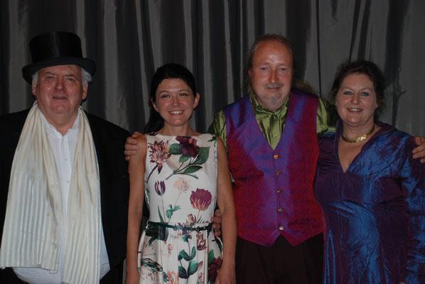 """KuBe Konzert """"Serenate Italiana"""", 12. Juni 2015. Volkshochschule Saarbrücken Michael Britz mit Ulrike Voltmer, Natalaya Chepelyuk und Charles Robin Broad"""