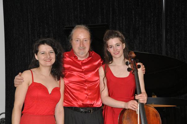 KuBe Konzert Violoncello-Klavier Rezital Natalia Malkova, Michael Britz, Cyrielle Golin am 08. Mai im Leidinger Saarbrücken.