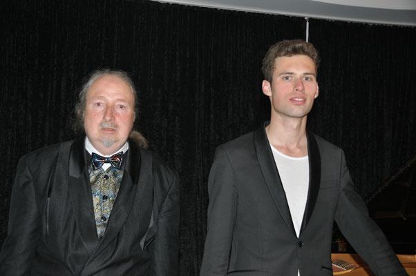KuBe Klavierkonzert, Michael Britz mit Rick-Henry Ginkel am 28. April 2017 im Leidinger