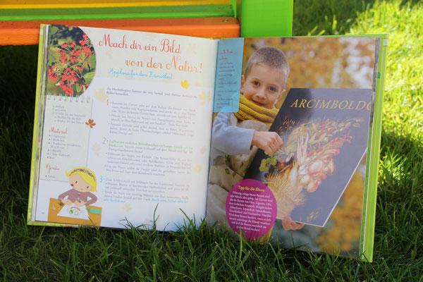 """das aufgeschlagene Buch """"Im Garten durch das ganze Jahr"""""""