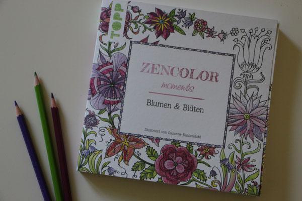 """Das TOPP-BUch """"ZenColor"""" mit Ausmalbildern für Erwachsene und Buntstifte von Faber Castel"""