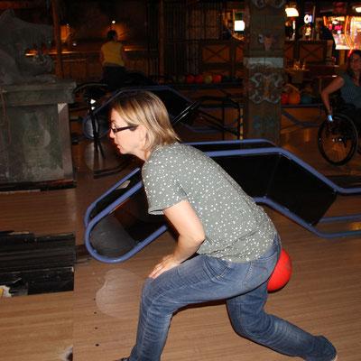 Ich beim Bowling