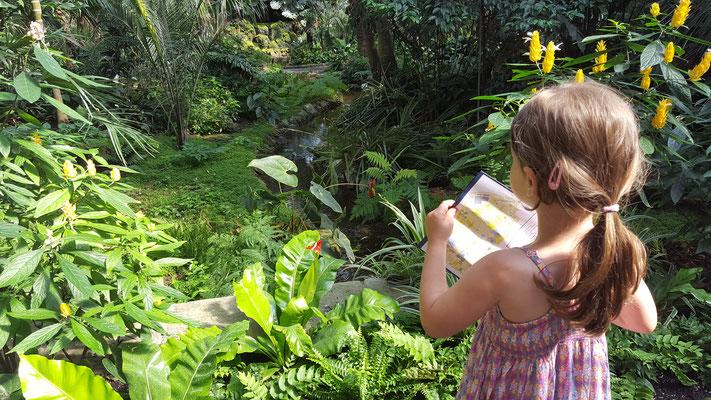 Unsere Kleine im Palmengarten in Frankfurt
