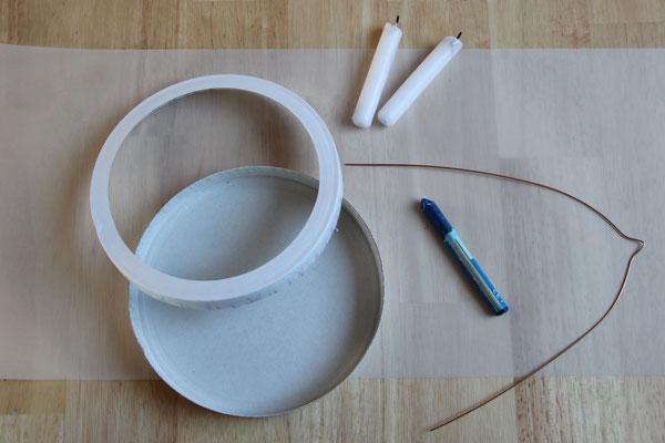 Das Material für eine Nachthimmel-Laterne